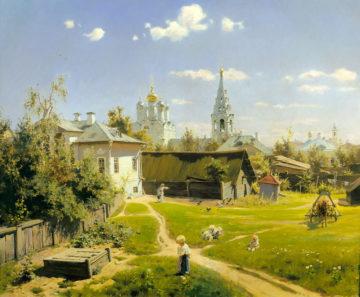 Сочинение, Поленов - Московский дворик